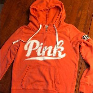 Medium Pink half zip sweatshirt
